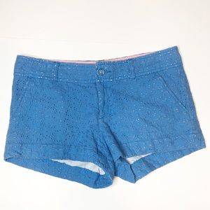 Lilly Pulitzer Lace Walsh Shorts in Blue Size 4